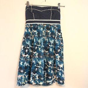 Kim chi blue dress sz 4 polka dot